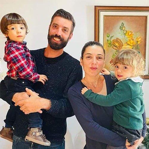 Retrato da família Olive 3: Lourenço, Francisco, Cláudia e Petra